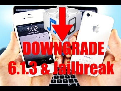How To Downgrade 6.1.3 to 6.1.2 or 5.1.1 & Jailbreak Untethered - iPhone 4/3Gs/iPod 4G Easy Way
