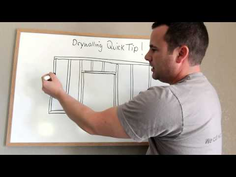 How to Hang Drywall to avoid cracks around doors (#2010)
