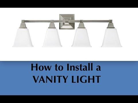 Vanity Light Installation - DIY Install