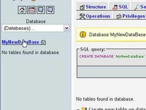 Installing WAMP and Creating a MySQL Database