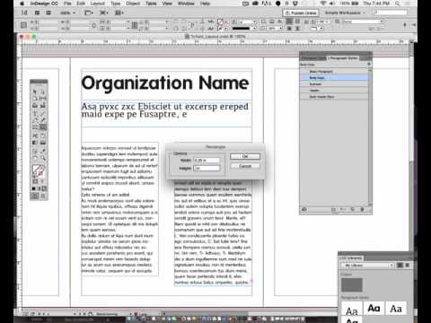 Adobe InDesign - LAYOUT TIPS