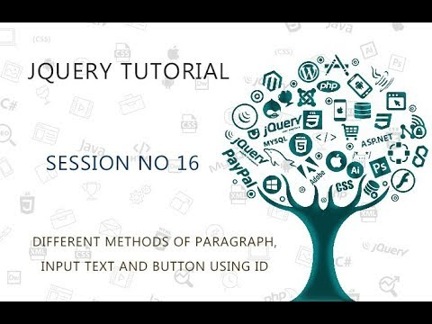 JQUERY TUTORIAL FOR BEGINNERS   16   DIFFERENT METHODS OF PARAGRAPH, INPUT TEXT AND BUTTON USING ID