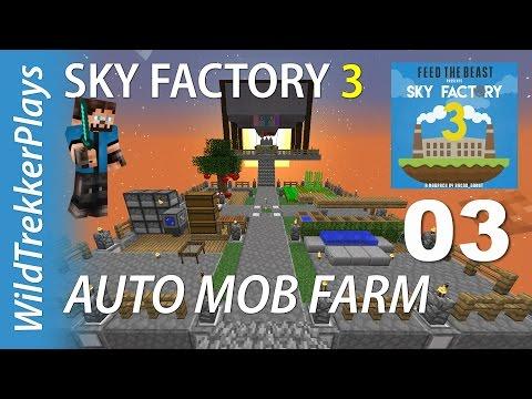FTB Sky Factory 3 ep03 - Smeltery & Auto Mob farm upgrade [Minecraft 1.10 Modded Skyblock]