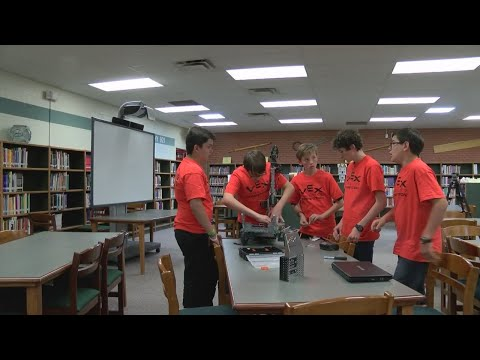 Middle school robotics team recognized for their hard work
