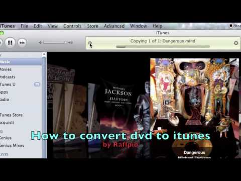 How to convert dvd to mp4 (for itunes)