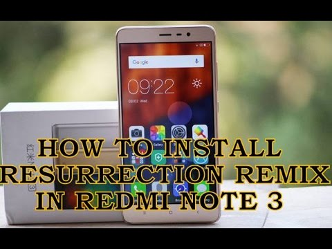 How To Install Resurrection Remix In Redmi Note 3 | Android 6.0  | Hindi/English |