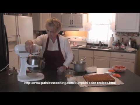 How to Make a Pumpkin Cake Recipe