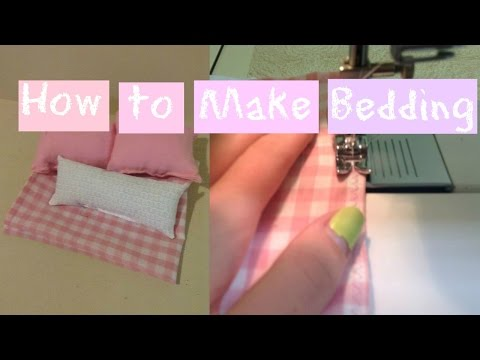 How to make bedding for a doll bed - EASY