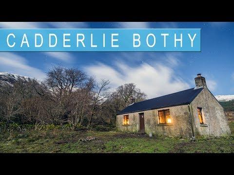 Staying at Cadderlie Bothy in the Scottish Highlands