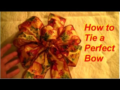 How to Tie a Perfect 6-loop Bow