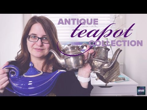 Teapot Collection: full of ANTIQUE and VINTAGE teapots and a couple HOTEL WARE teapots!