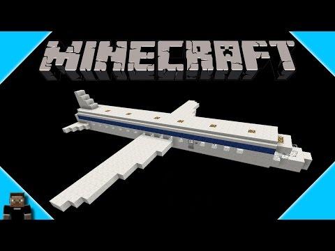 ** Minecraft ** Airplane Speed Build Jet Plane HD 1080p**