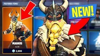 NEW Fortnite *SEASON 5* Legendary Magnus Skin and Viking Axe!! (Fortnite Battle Royale)