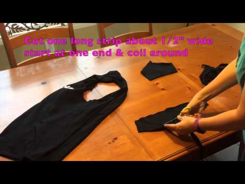 How to Cut T-Shirt into Racer Back Tank Top