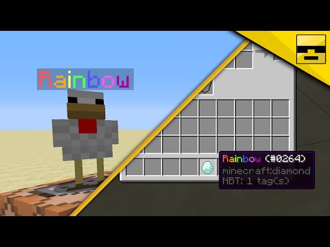 How to COLOR MOB and ITEM names in VANILLA MINECRAFT!