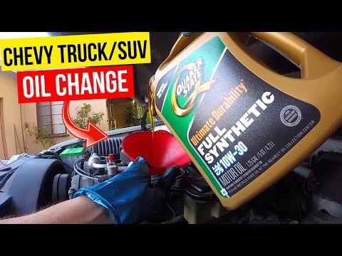 How To Change Oil Chevy GMC Truck or SUV -Jonny DIY