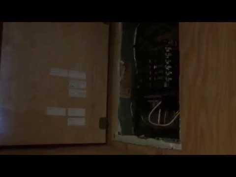 Hidden electrical panel