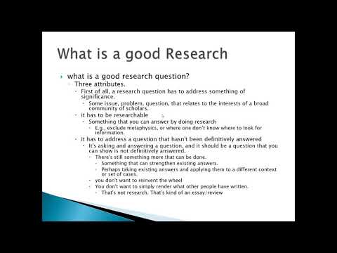 Significant Research Question: How to Know and How to find
