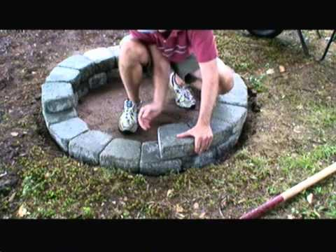 How to Build a Fire Pit with Concrete Pavers