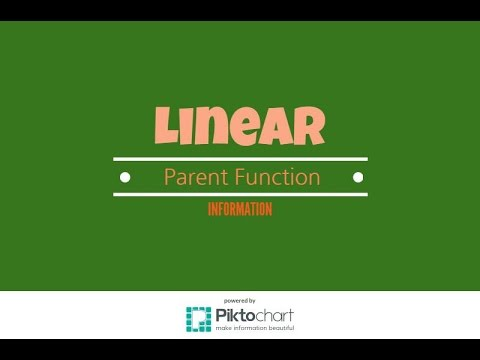 Information About The Linear Parent Function