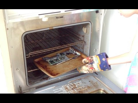Cant Find a New Motherboard for Macbook Pro?  Melt It! | Baking Your Motherboard