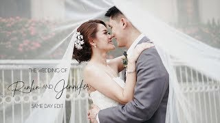migs and kristelle on site wedding film by nice print photography