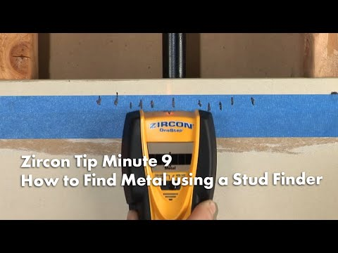Zircon Tip Minute 9: How to Find Metal using a Stud Finder
