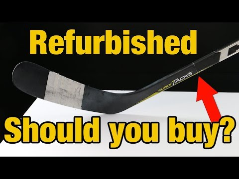 Should you buy a refurbished or repaired hockey stick ? Hockey Repair Shop review