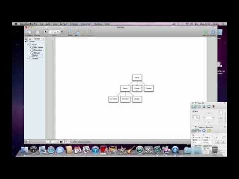 Generating a site map in one minute with OmniGraffle - Demo