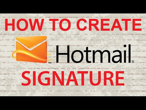 Add Picture / Image to Hotmail Signature