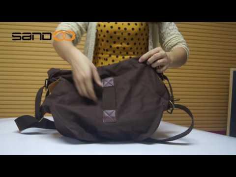 Wholesale Mens Vintage School Military Shoulder Bag, Leather Canvas Messenger Bag