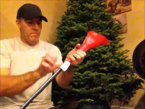DIY - Christmas tree Funnel for easily watering Xmas trees fire safety tip