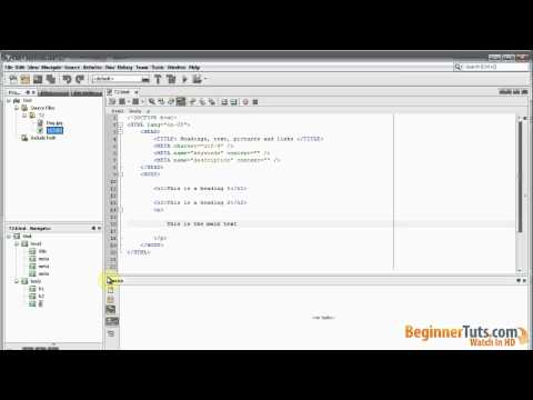 Beginner HTML tutorial # 3 - Pictures, links, text and headings