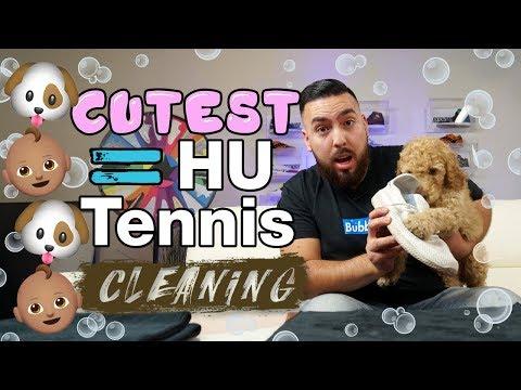 The cutest way to clean Adidas Pharrell Hu Tennis shoes