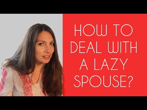 Lazy spouse that doesn't search for a job - How to deal
