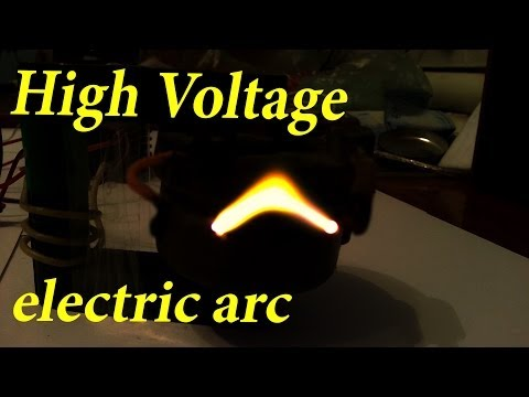 High voltage generator, Makes an Electric Arc, and Jacob's ladder.