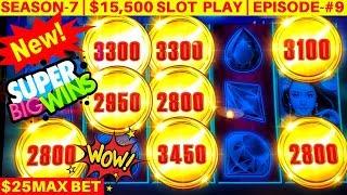 New Silk Moon High Limit Slot Machine MASSIVE WIN 25 Max Bet Bonus SEASON 7 EPISODE 9
