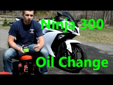 How To Change the Oil & Filter On The Kawasaki Ninja 300 2013 2014 2015