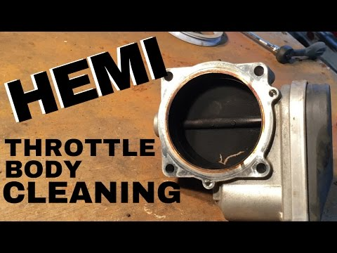 HEMI THROTTLE BODY CLEANING | Chrysler Dodge Ram and Jeep