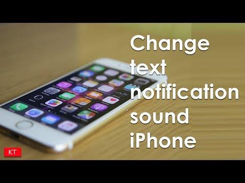 Set custom text message notification sound on iPhone