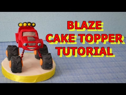 Blaze Monster Machines cake topper fondant - tutorial pasta di zucchero torta
