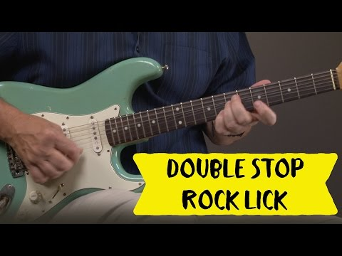 Double Stop Electric Guitar Lick Lesson