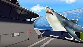 SHARKS SWARM SHIP DURING TSUNAMI!  - Stormworks Multiplayer Gameplay - Tsunami Survival