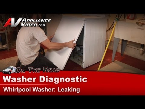 Maytag & Whirlpool Washer Diagnostic - Leaking water in spin & wash cycles - LAT2500AAE