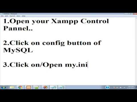 how to chnage mysql port of xampp