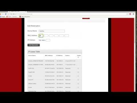 UK Virgin Media super hub - configuring DHCP reservation