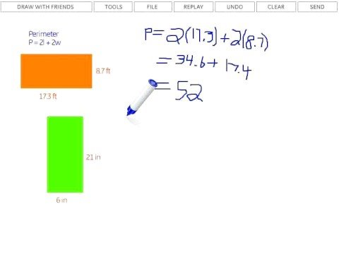 Finding Perimeter of a Rectangle