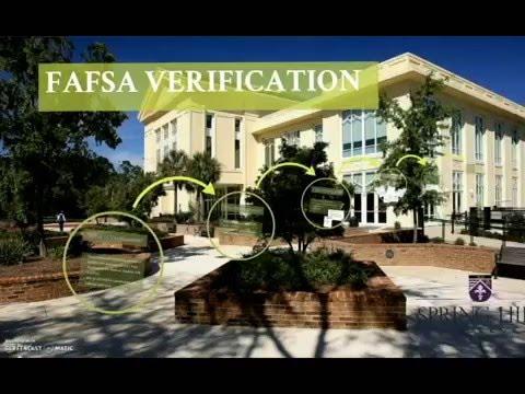Spring Hill College - FAFSA Verification
