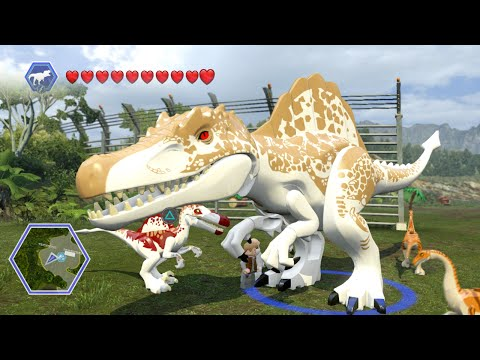 Lego Jurassic World - HYBRIDS! ( Free Roam GamePlay )