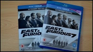 Fast & Furious 7 (UK) Blu-ray Unboxing